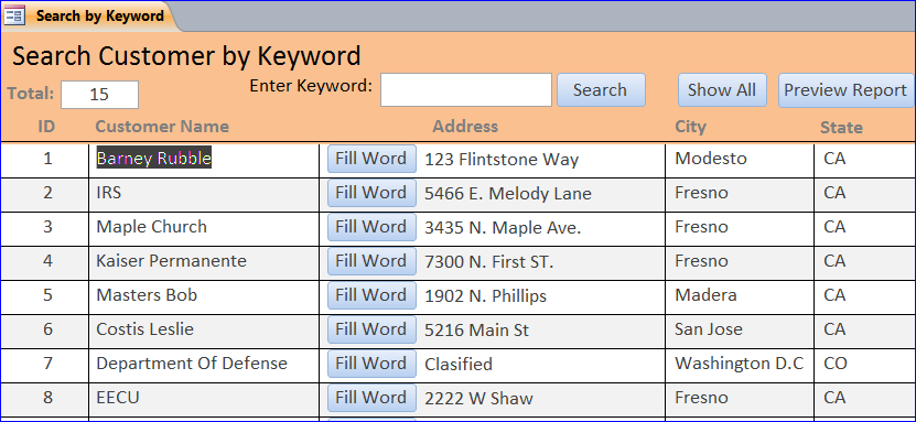 create search form using vba   ms access