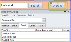 Create Search Form using VBA : MS Access - iAccessWorld.com