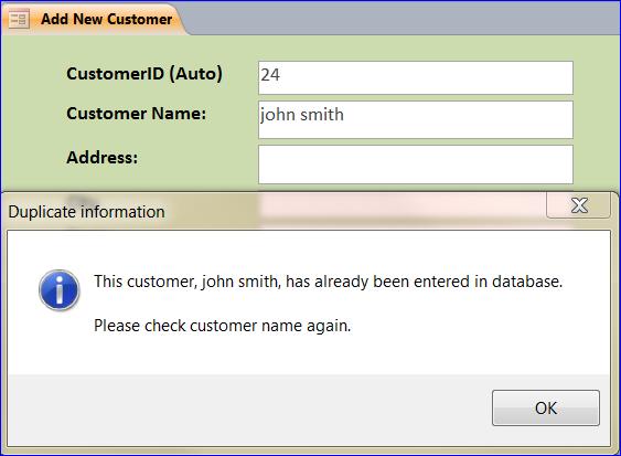 How to Prevent a Duplicated Data Entry - iAccessWorld com