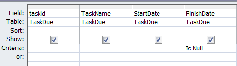 ms access isnull  Example of using a Criteria in Query: MS Access - iAccessWorld.com
