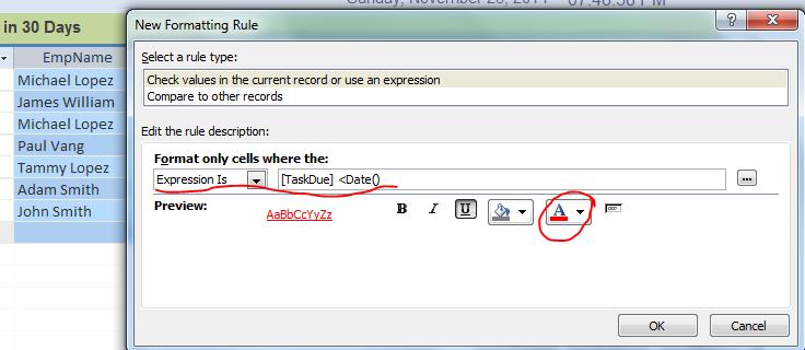Conditional Formatting for Subform or Datasheet Form  - iAccessWorld com