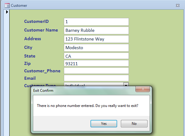 How to Cancel a Form Close –Access VBA - iAccessWorld.com