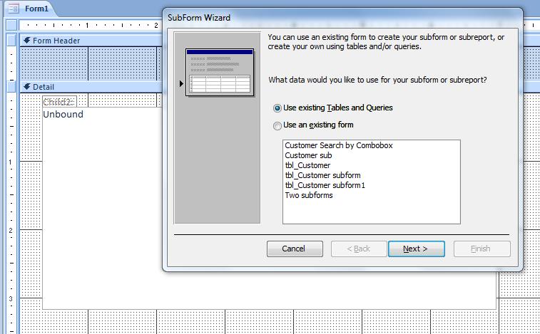 How to Create Subform - iAccessWorld com