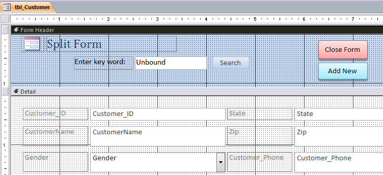 How to Create Split Form