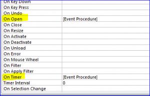 event procedure