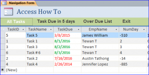 all tasks