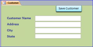 blank form after save