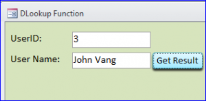 number user id from current form
