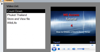 How to Play Video on Access Form