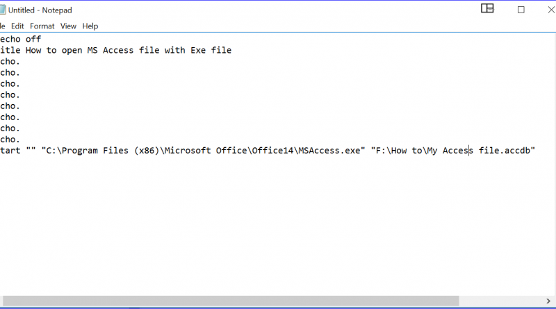 How to Open MS Access file from EXE file
