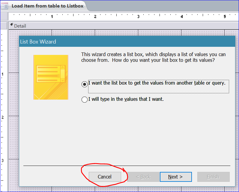 How to Load Items from Table to Listbox - iAccessWorld com