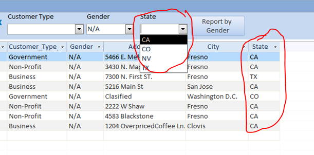 Search Form Using Combo Box And Link Two Subforms