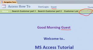guest login