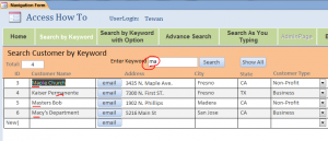search by keyword