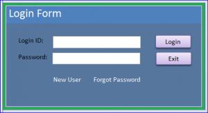 new login form