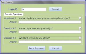 reset password correct login