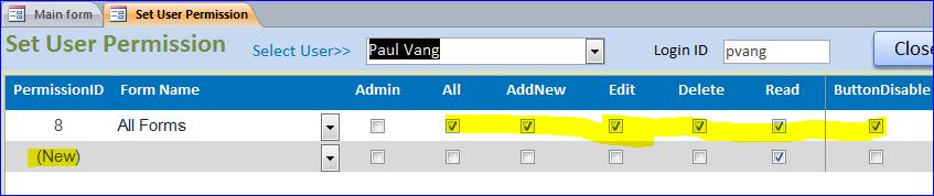 Set User Permission on Each Form - iAccessWorld com