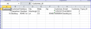 transfer from sql to excel