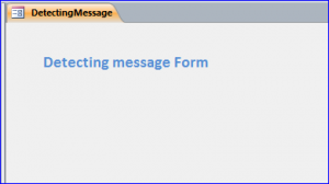 detecting message form