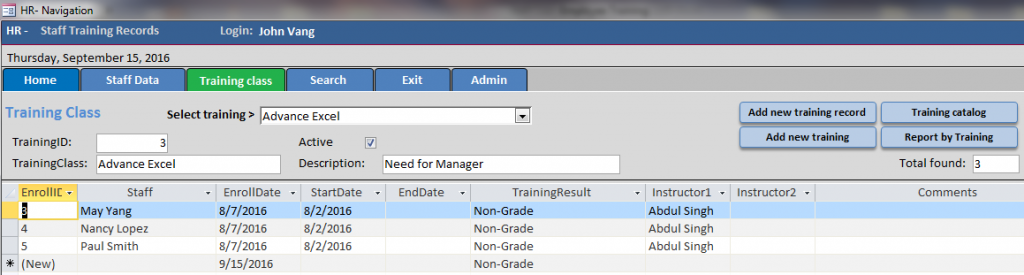 training-class-tab