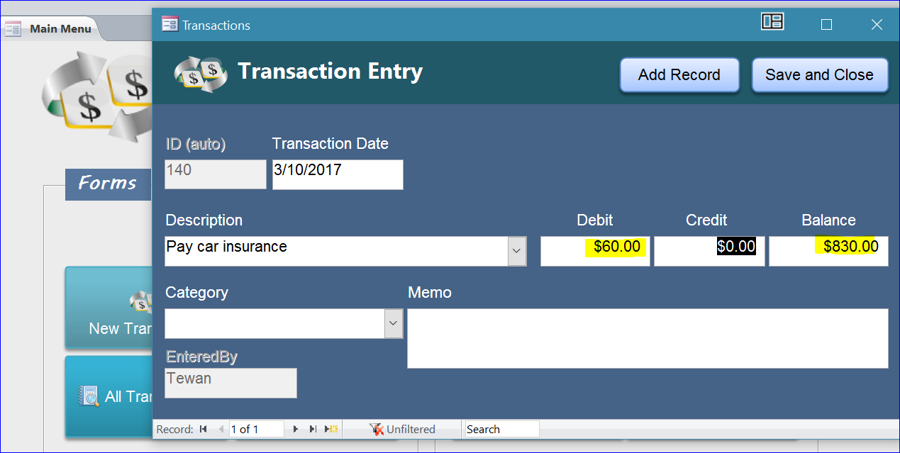 Banking Transactions - iAccessWorld com