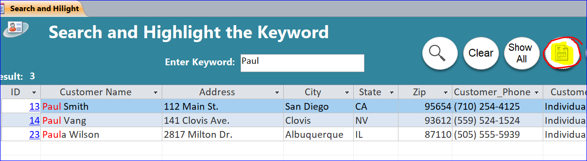 Search and Highlight the Keywords - iAccessWorld com